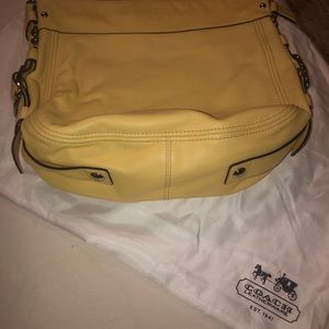 Authentic COACH Zoie canary yellow shoulder bag